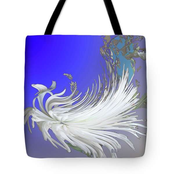 Abstract Flowers Of Light Series #4 Tote Bag
