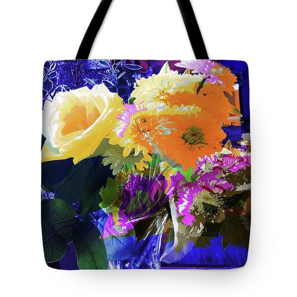 Abstract Flowers Of Light Series #7 Tote Bag