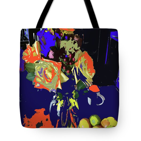 Abstract Flowers Of Light Series #8 Tote Bag