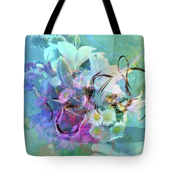 Abstract Flowers Of Light Series #9 Tote Bag