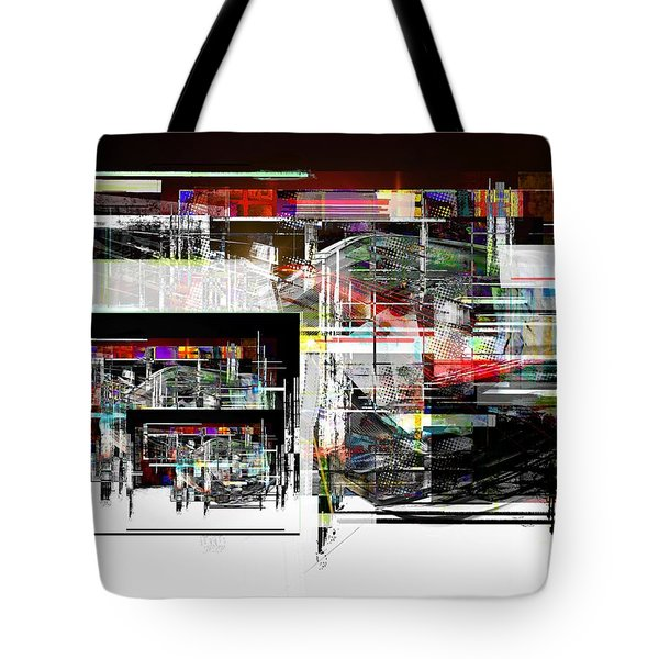 Abstract Fountain Tote Bag