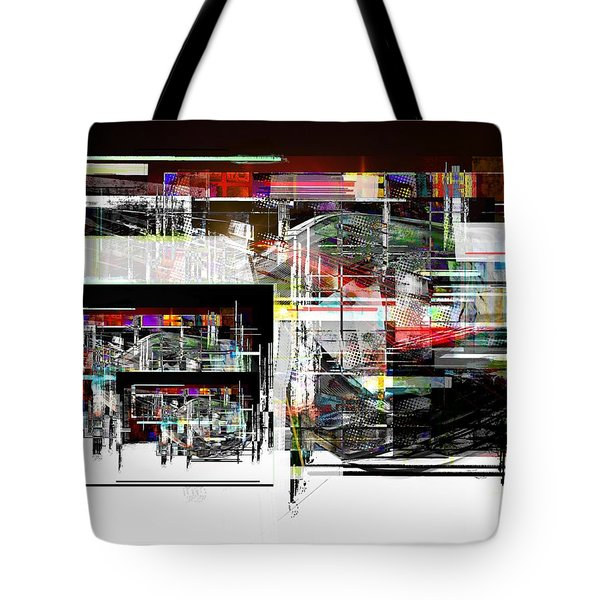 Tote Bag featuring the digital art Abstract Fountain by Art Di