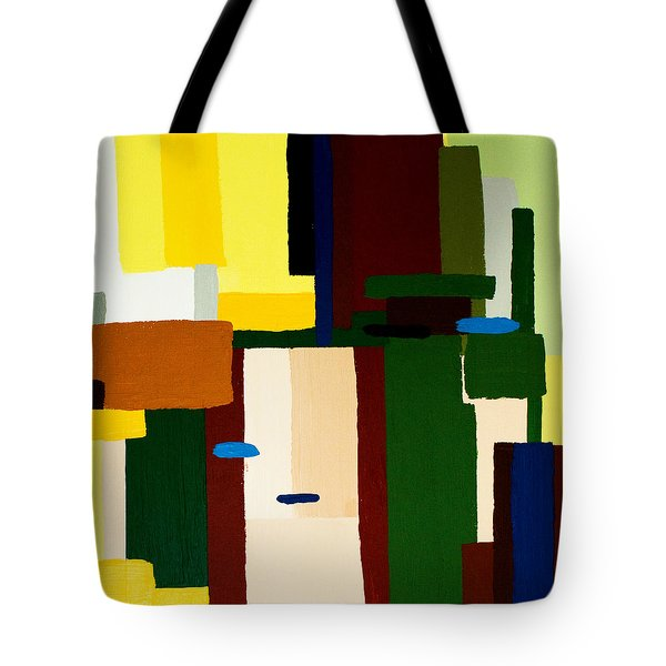 Tote Bag featuring the painting Abstract Fun by Karen Nicholson