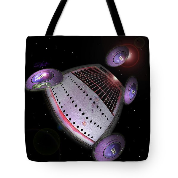 Abstract Future Tote Bag by Charles Stuart