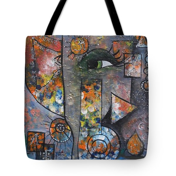 Abstract Ganesha  Tote Bag