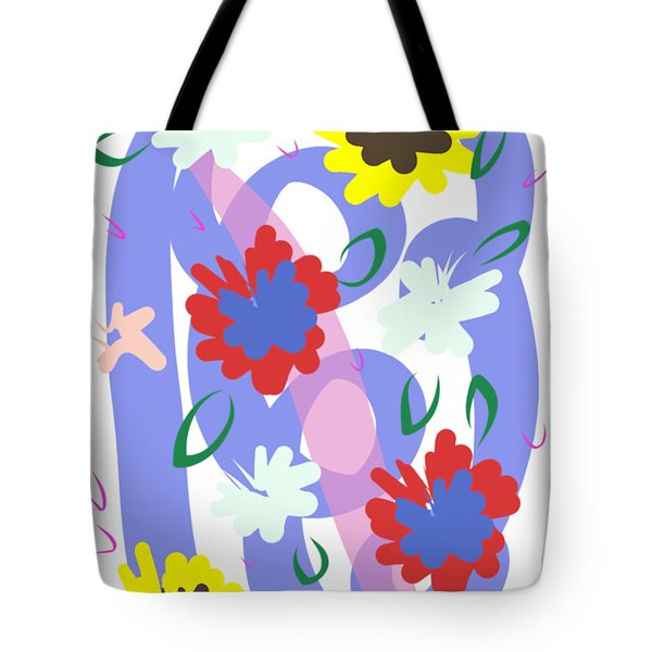 Tote Bag featuring the digital art Abstract Garden #1 by Bee-Bee Deigner
