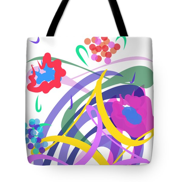 Tote Bag featuring the digital art Abstract Garden #2 by Bee-Bee Deigner