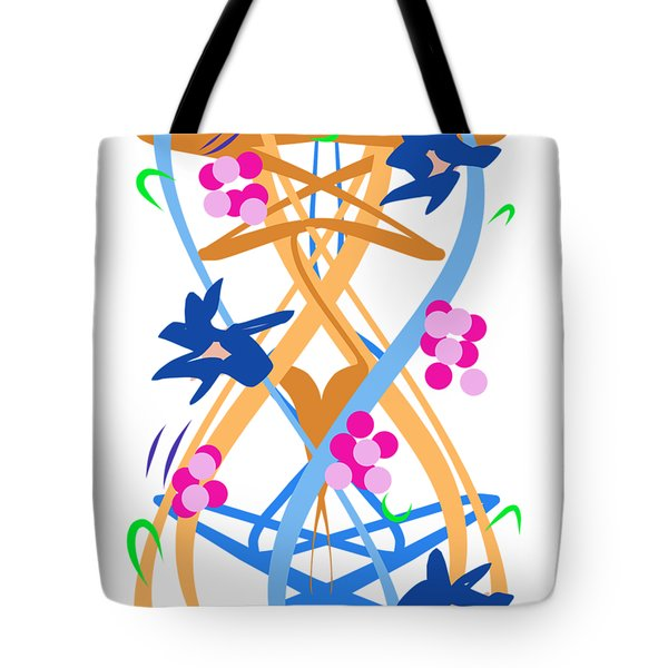 Tote Bag featuring the digital art Abstract Garden #3 by Bee-Bee Deigner