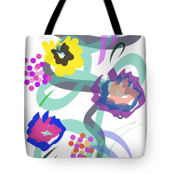 Tote Bag featuring the digital art Abstract Garden Nr 4 by Bee-Bee Deigner