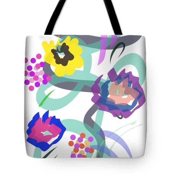 Abstract Garden Nr 4 Tote Bag