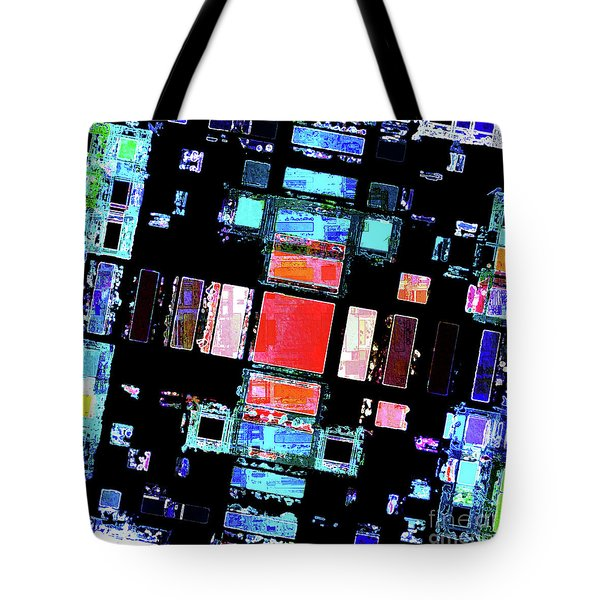 Tote Bag featuring the digital art Abstract Geometric Art by Phil Perkins