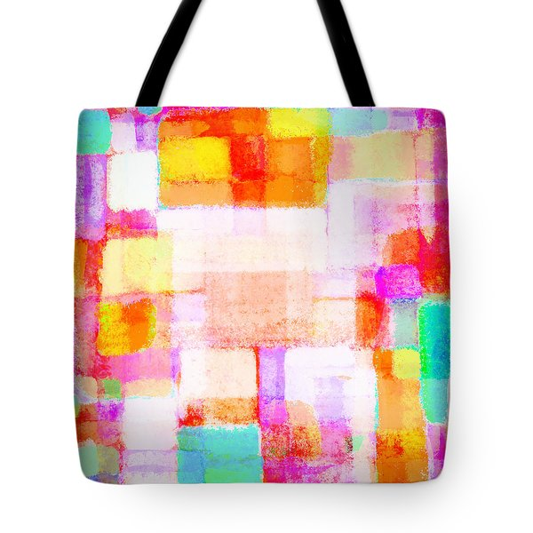 Abstract Geometric Colorful Pattern Tote Bag by Setsiri Silapasuwanchai