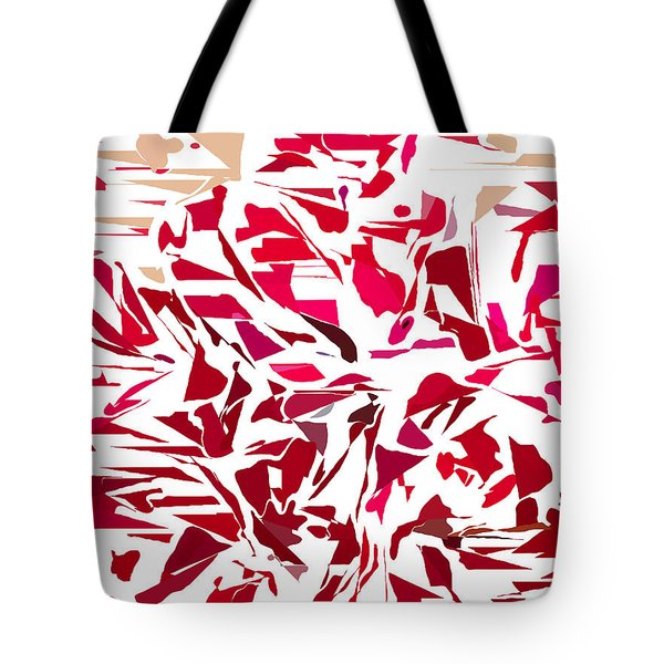 Abstract Geranium Tote Bag