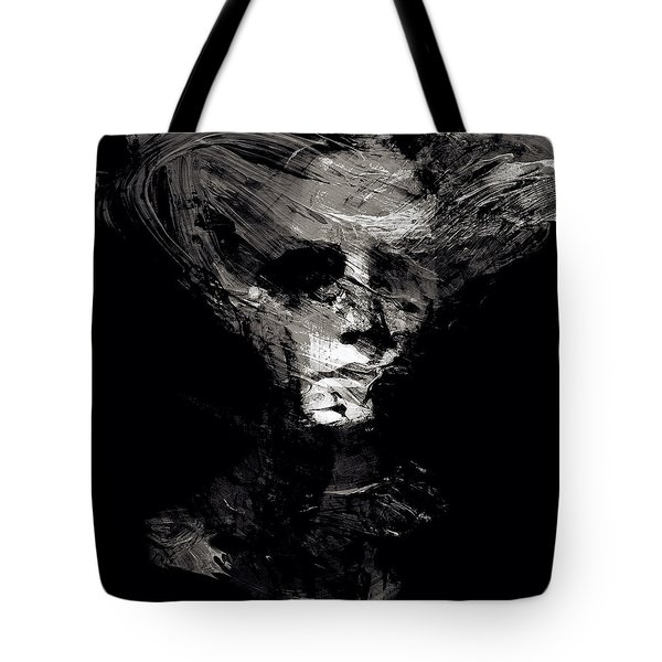 Abstract Ghost Black And White Tote Bag