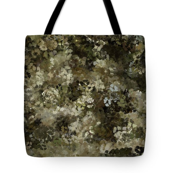 Tote Bag featuring the mixed media Abstract Gold Black White 5 by Clare Bambers