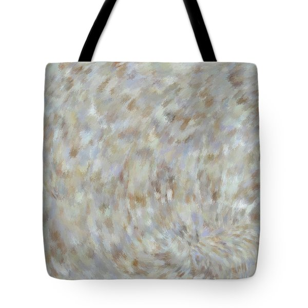 Tote Bag featuring the mixed media Abstract Gold Cream Beige 6 by Clare Bambers