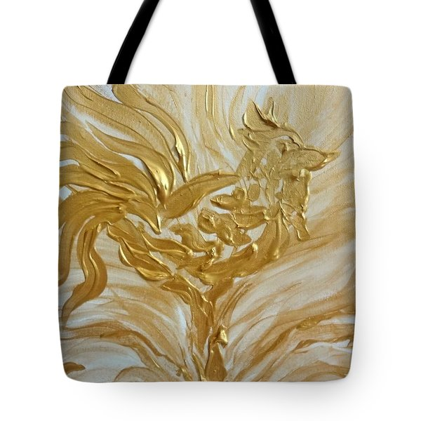 Abstract Golden Rooster Tote Bag