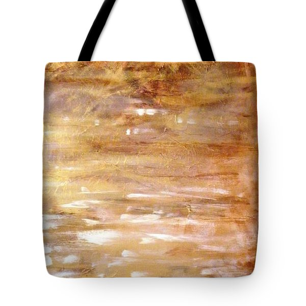 Abstract Golden Sunrise Beach  Tote Bag