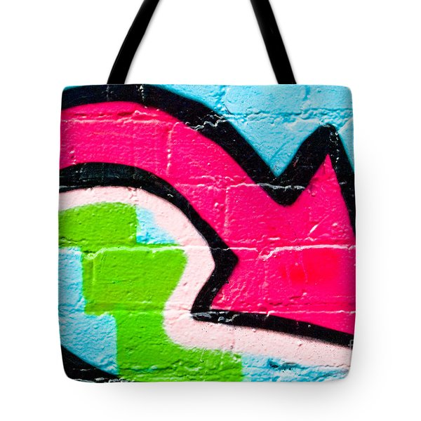 Tote Bag featuring the painting Abstract Graffiti Arrow Pouinting Down by Yurix Sardinelly