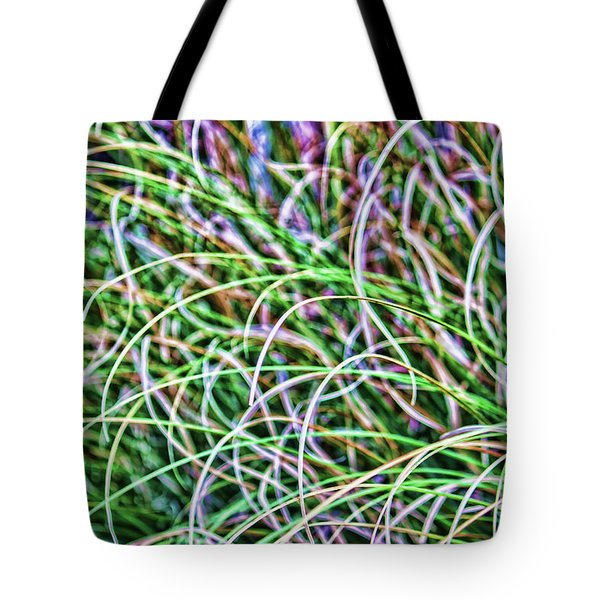 Abstract Grass Tote Bag by Roberta Byram