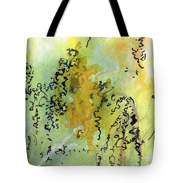 Abstract Green And Yellow  Tote Bag