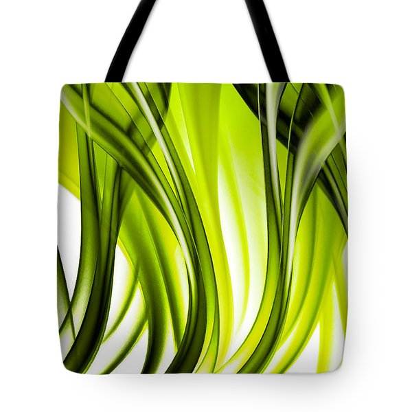 Abstract Green Grass Look Tote Bag