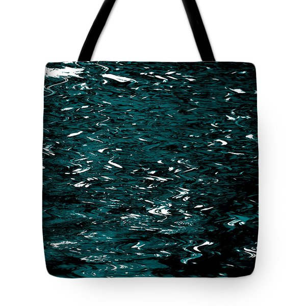 Tote Bag featuring the photograph Abstract Green Reflections by Gary Smith