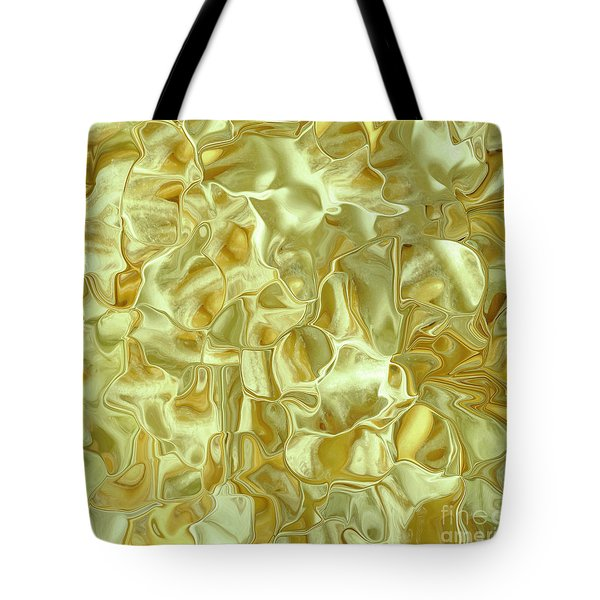 Abstract Green Satin Pillow Tote Bag