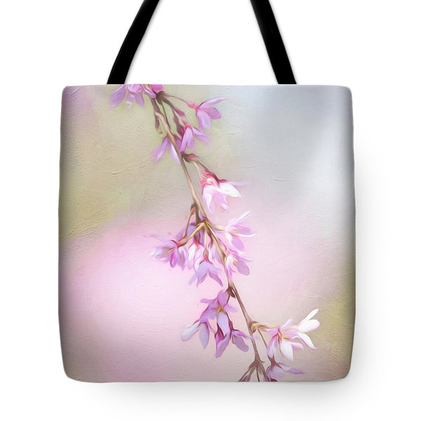 Abstract Higan Chery Blossom Branch Tote Bag