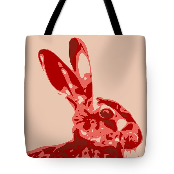 Abstract Hare Contours Glaze Tote Bag
