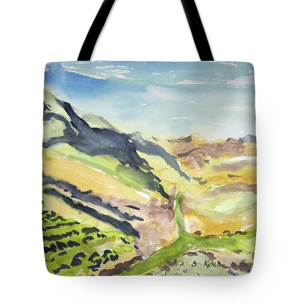 Abstract Hillside Tote Bag