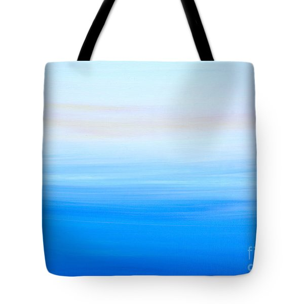 Tote Bag featuring the painting Abstract Hl312016 by Mas Art Studio