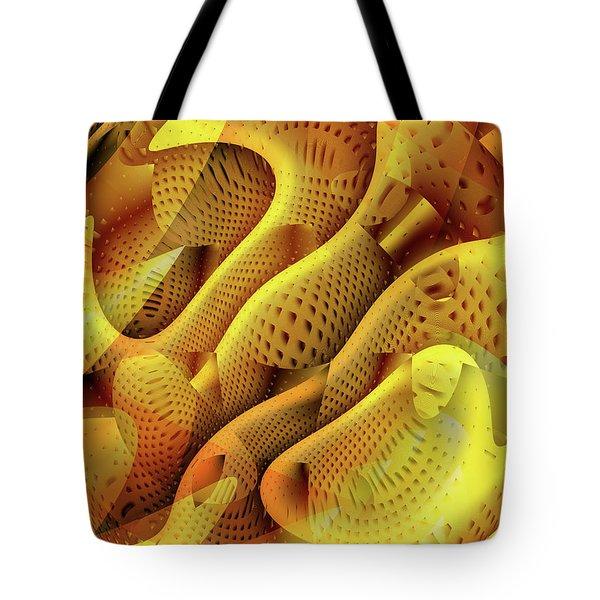 Abstract Honeycomb Tote Bag