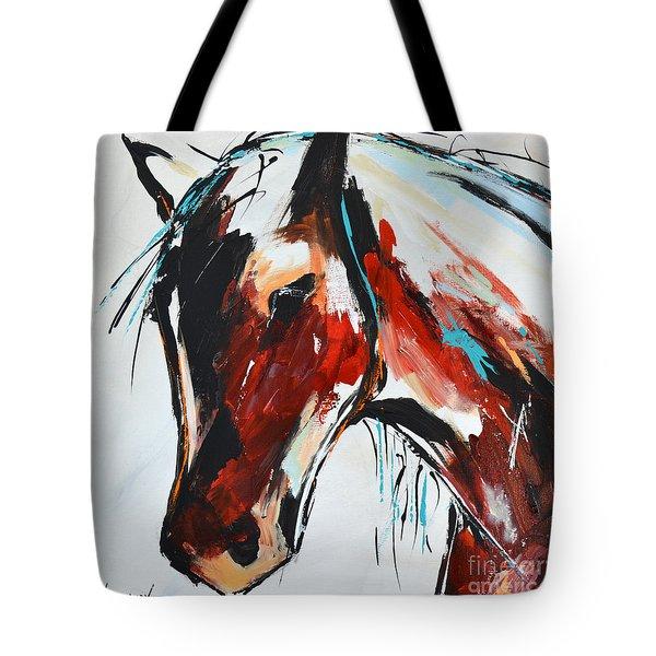 Abstract Horse 15 Tote Bag