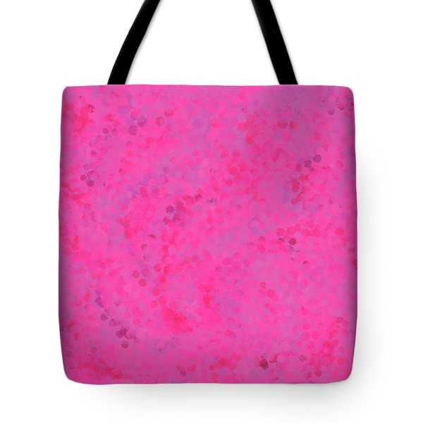 Tote Bag featuring the mixed media Abstract Hot Pink And Lilac 4 by Clare Bambers