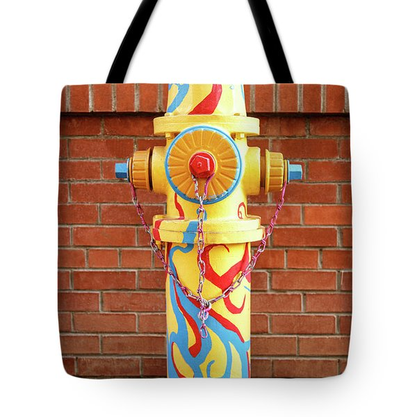 Tote Bag featuring the photograph Abstract Hydrant by James Eddy