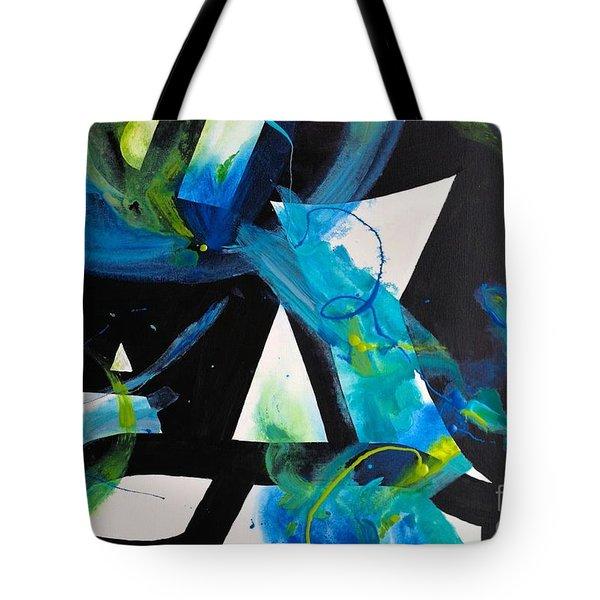 Study In Blue I Tote Bag