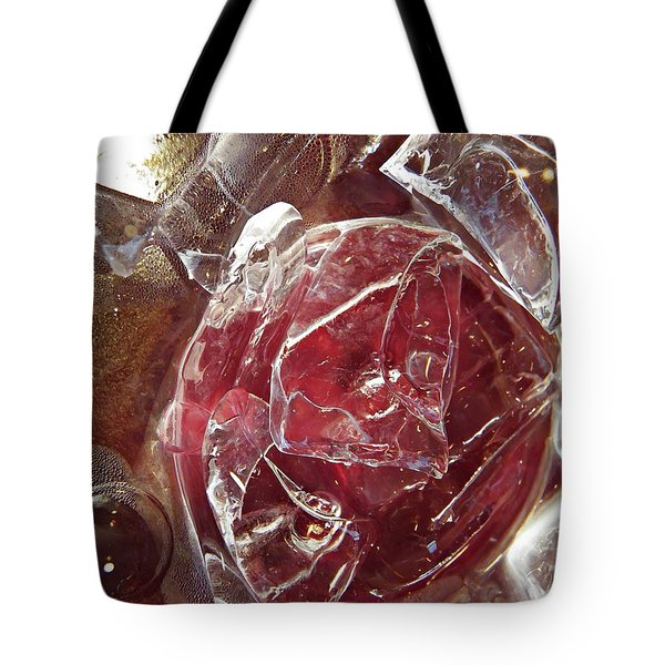 Abstract Ice 44 Tote Bag by Sarah Loft