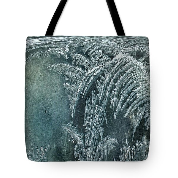 Tote Bag featuring the digital art Abstract Ice Crystals by Robert G Kernodle
