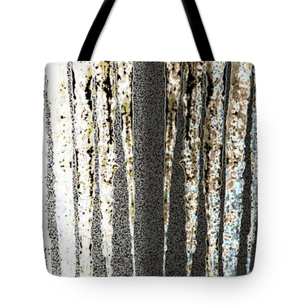 Tote Bag featuring the digital art Abstract Icicles by Will Borden