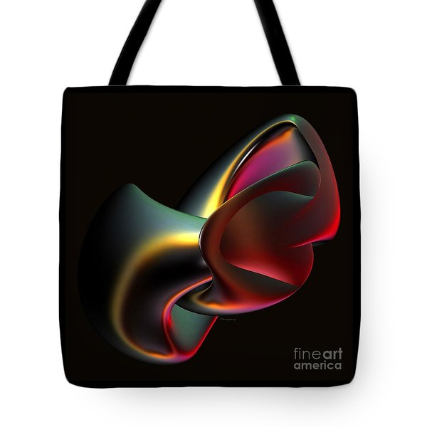 Abstract In 3d Tote Bag