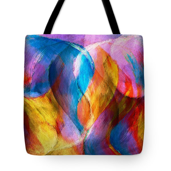 Abstract In Aqua Tote Bag