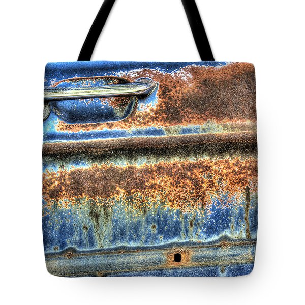 Tote Bag featuring the photograph Abstract In Blue And Brown by ELDavis Photography