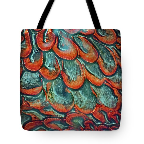 Abstract In Copper And Blue No. 7-1 Tote Bag