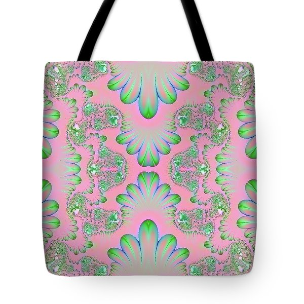 Tote Bag featuring the digital art Abstract In Pastels by Linda Phelps
