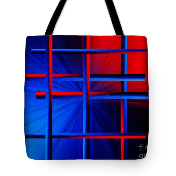 Abstract In Red/blue 3 Tote Bag