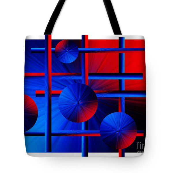 Abstract In Red/blue Tote Bag