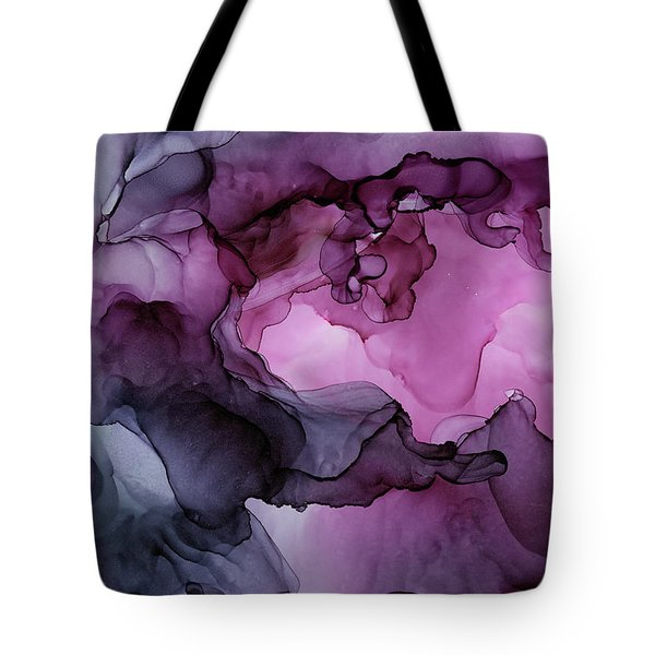 Abstract Ink Painting Plum Pink Ethereal Tote Bag