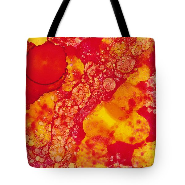 Tote Bag featuring the painting Abstract Intensity by Nikki Marie Smith