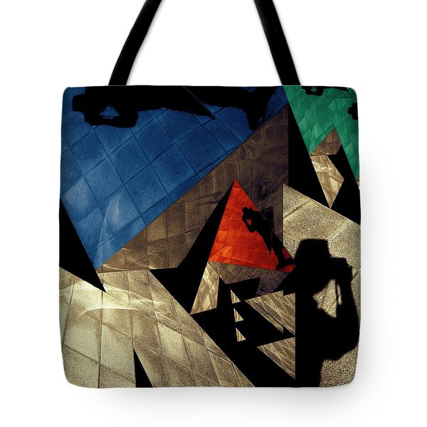 Tote Bag featuring the photograph Abstract Iterations by Wayne Sherriff